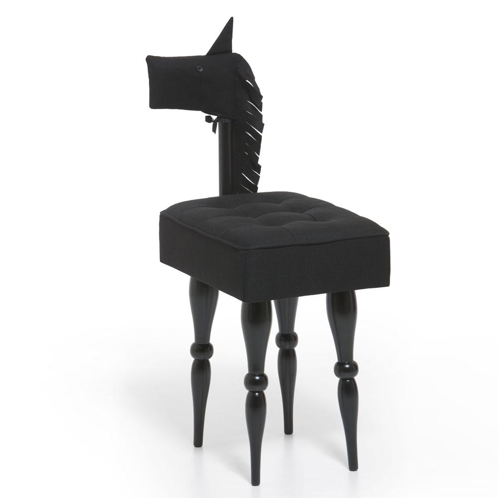 biaugust deco 動物家俱椅/黑色小馬椅