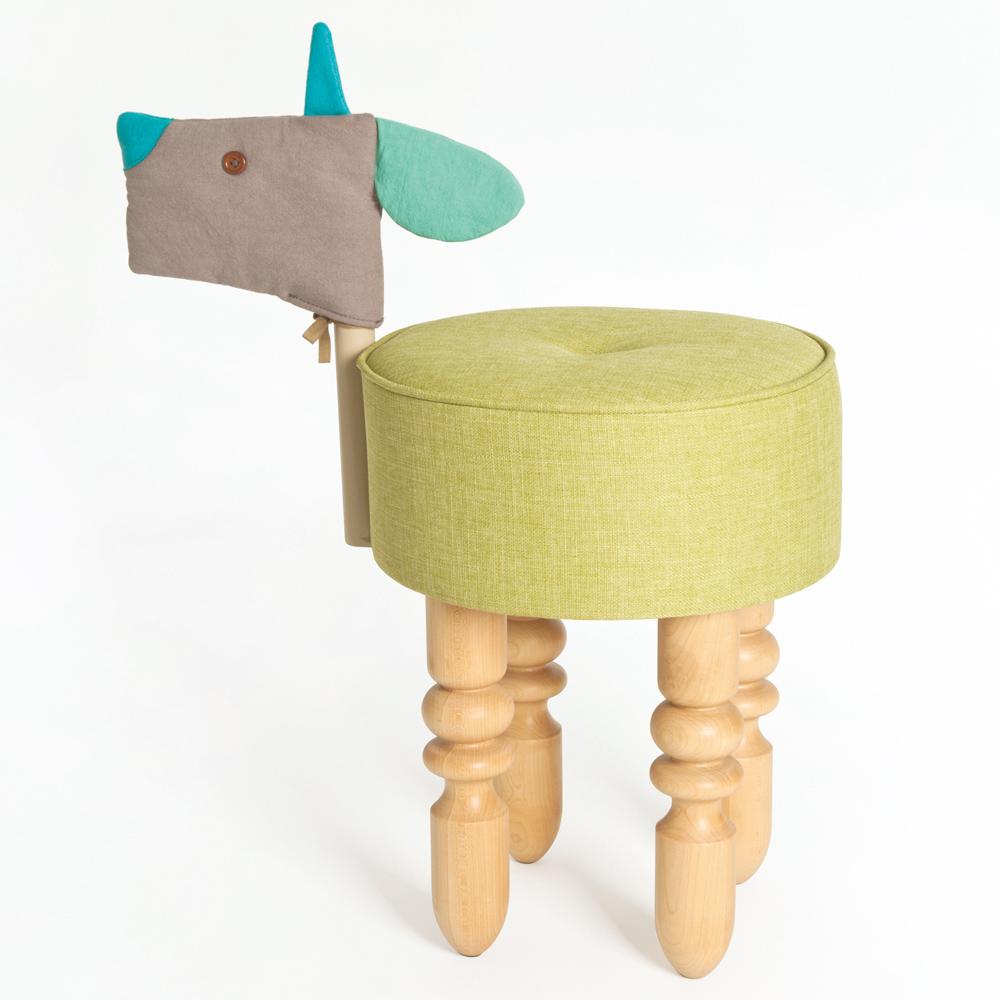 biaugust deco 動物家俱椅/彩色小羊椅