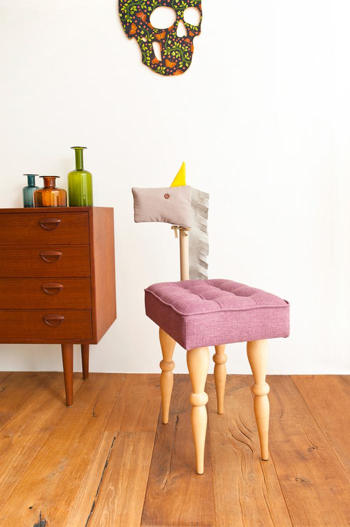 (複製)biaugust deco|動物家俱椅/彩色貴賓小狗椅