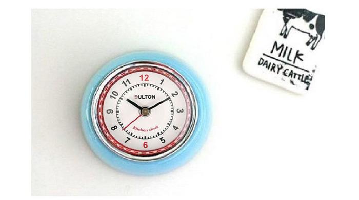 Dulton|復古磁鐵時鐘 粉紅色