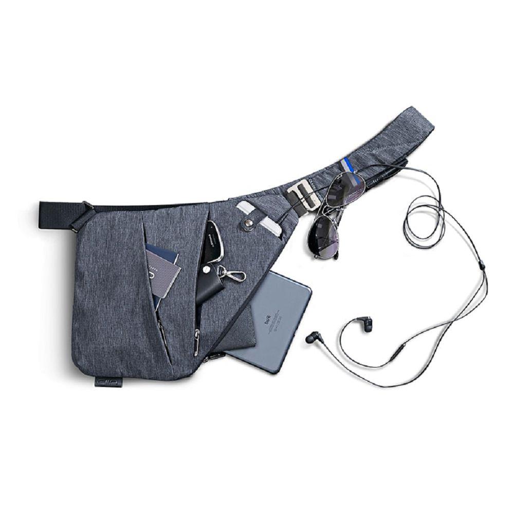 NIID|【FINO槍包】型男超薄貼身防盜包(一代) 太空灰 (左手款)