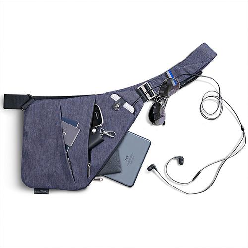 NIID|【FINO槍包】型男超薄貼身防盜包(一代) 爵士藍 (左手款)