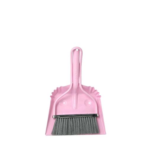Dulton|工業風小掃把 粉紅色