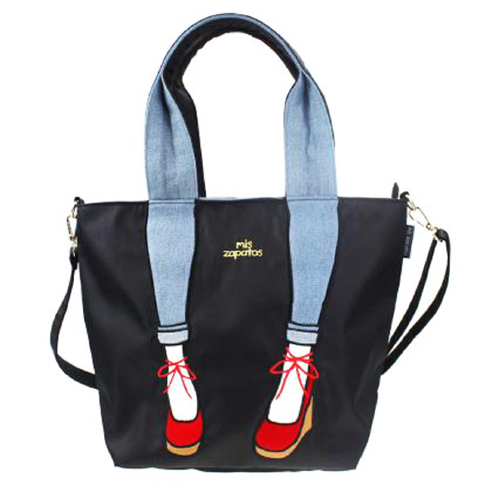 Mis Zapatos|skinny 蝴蝶結綁帶 2way 斜背包 黑色
