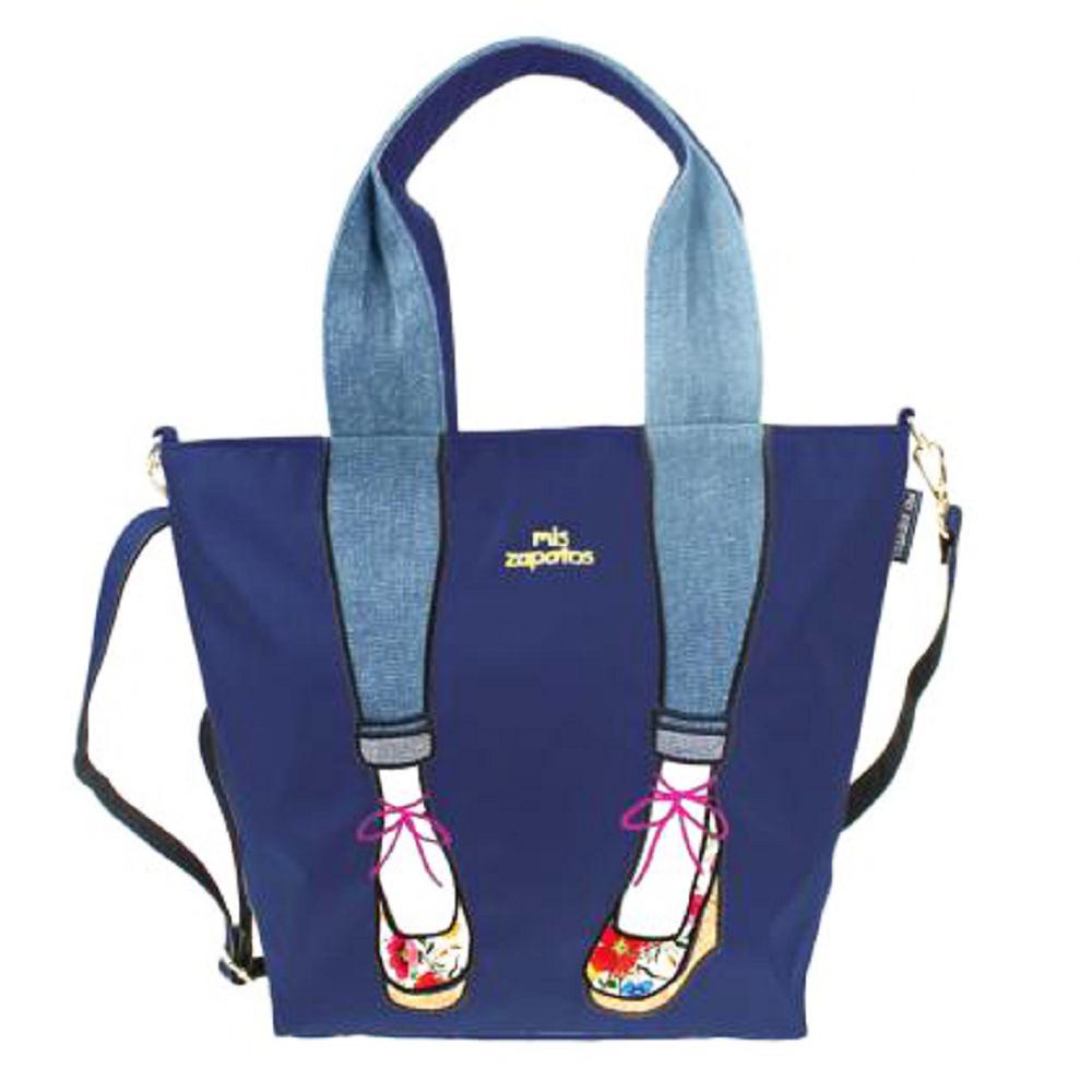 Mis Zapatos|skinny 蝴蝶結綁帶 2way 斜背包 藍色
