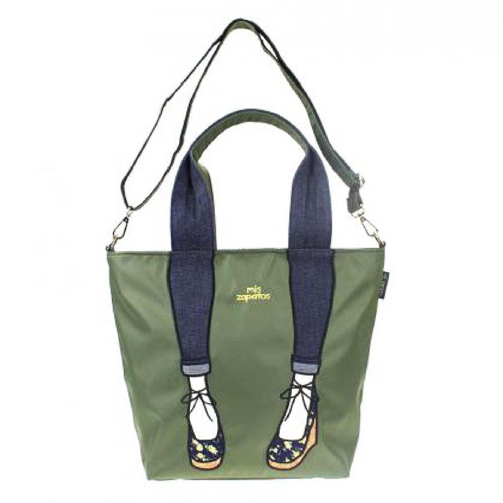 Mis Zapatos|skinny 蝴蝶結綁帶 2way 斜背包 軍綠色