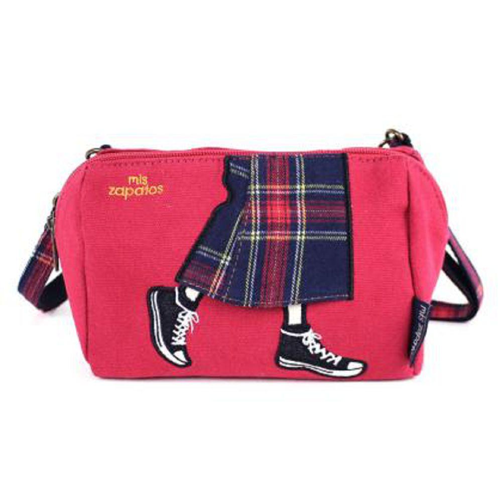 Mis Zapatos|青春少女帆布鞋 斜背包 紅色