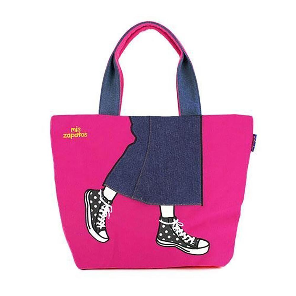 Mis Zapatos|青春少女帆布鞋包 粉紅色