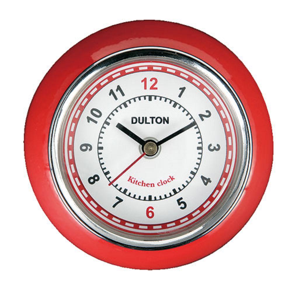 Dulton|復古磁鐵時鐘 紅色