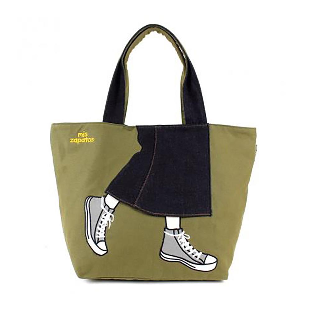 Mis Zapatos|青春少女帆布鞋包 軍綠色