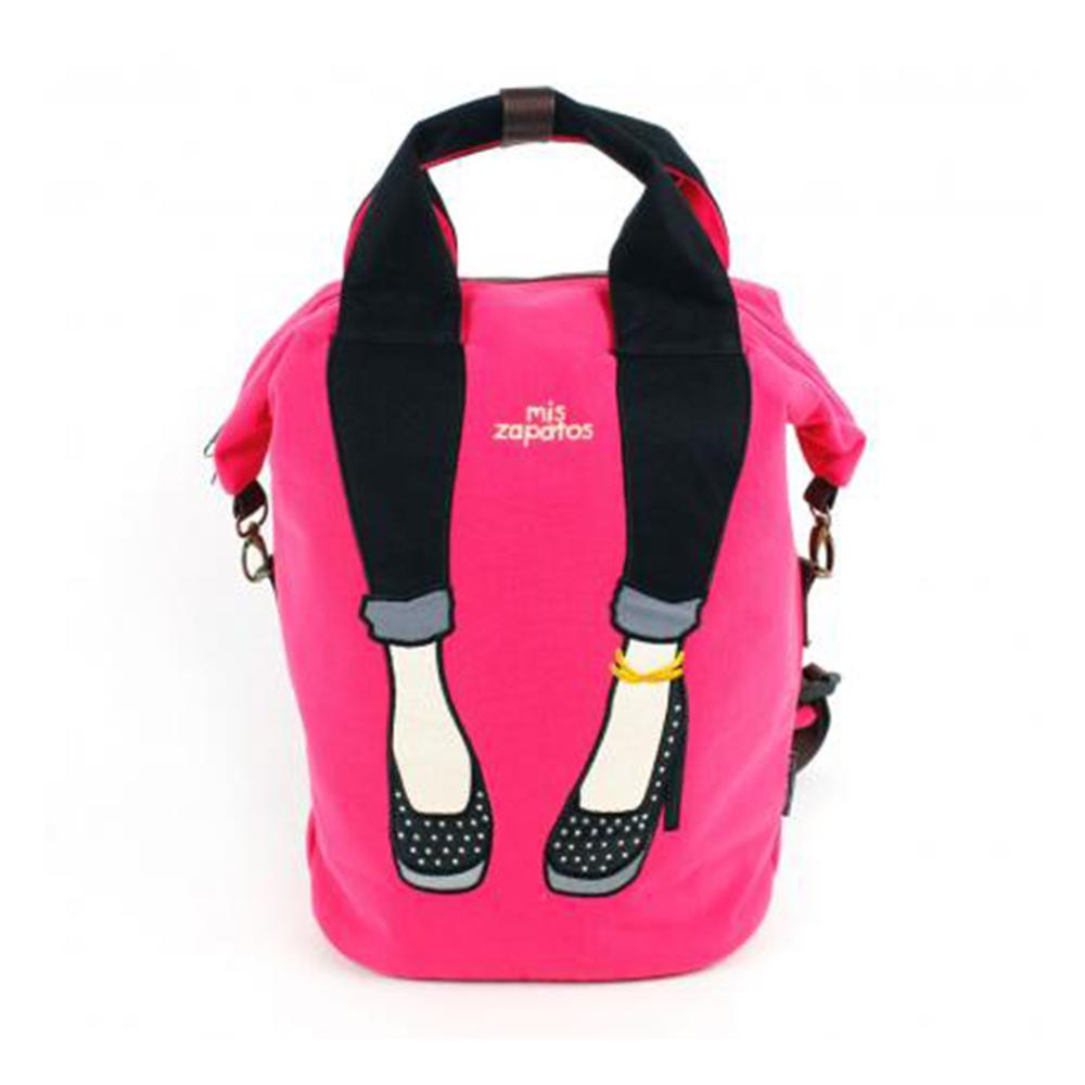Mis Zapatos|都會優雅 skinny 高跟鞋 2way包 粉紅色