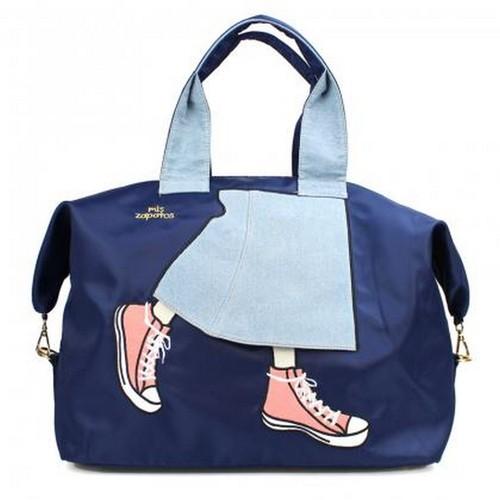 Mis Zapatos|青春少女帆布鞋3way 旅行包 深藍色
