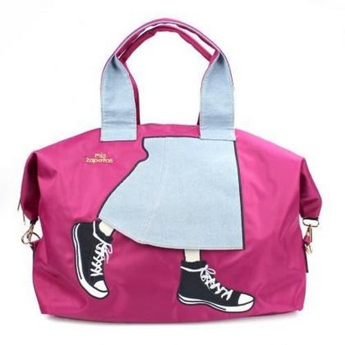 Mis Zapatos|青春少女帆布鞋3way 旅行包 酒紅色