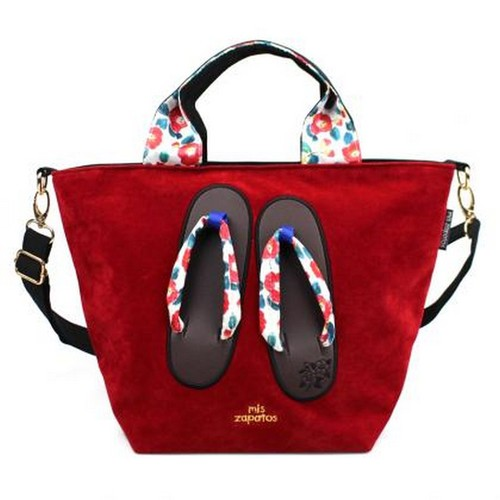 Mis Zapatos|和風繽紛木屐2way包 紅色