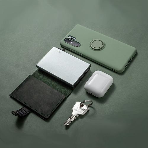 NIID│SLIDE Mini Wallet 防盜刷真皮智慧錢包 - 祖母綠
