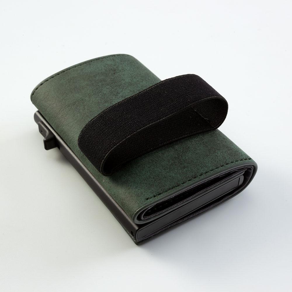 NIID|SLIDE II Mini Wallet 防盜刷科技皮夾 - 暗綠