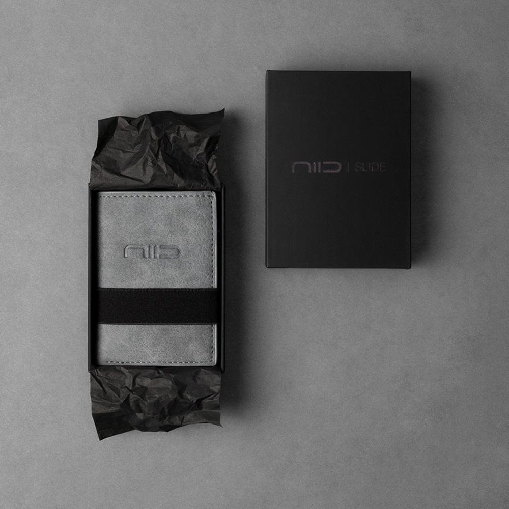 NIID SLIDE II Mini Wallet 防盜刷科技皮夾 - 霧灰