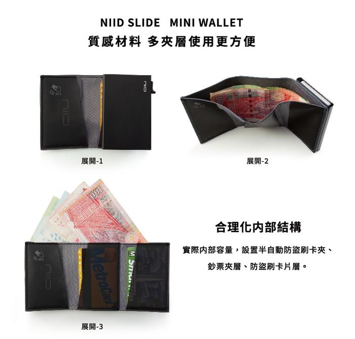 NIID x SLIDE II Mini Wallet 防盜刷科技皮夾 (五色新登場)