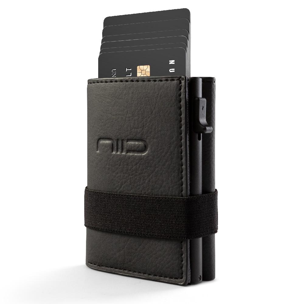 NIID|SLIDE II Mini Wallet 防盜刷科技皮夾 - 墨黑