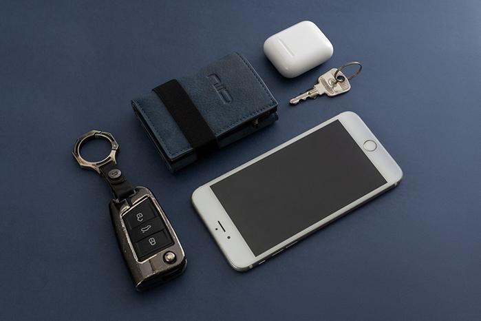 (複製)NIID x SLIDE II Mini Wallet 防盜刷科技皮夾 - 黃棕