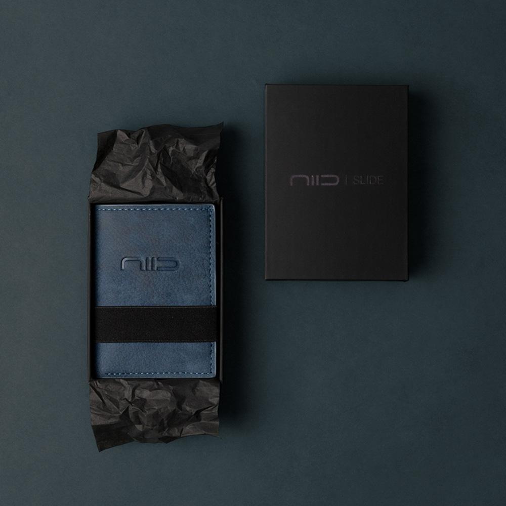 NIID|SLIDE II Mini Wallet 防盜刷科技皮夾 - 靛藍