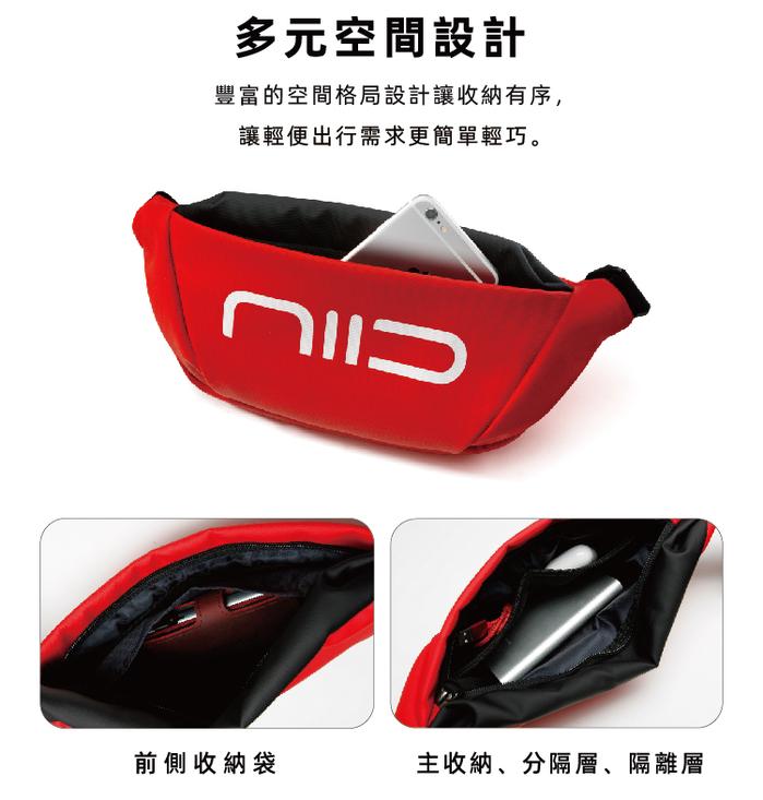 (複製)NIID|Statement 玩色宣言 S2 防水隨身斜背小包(五色選購)