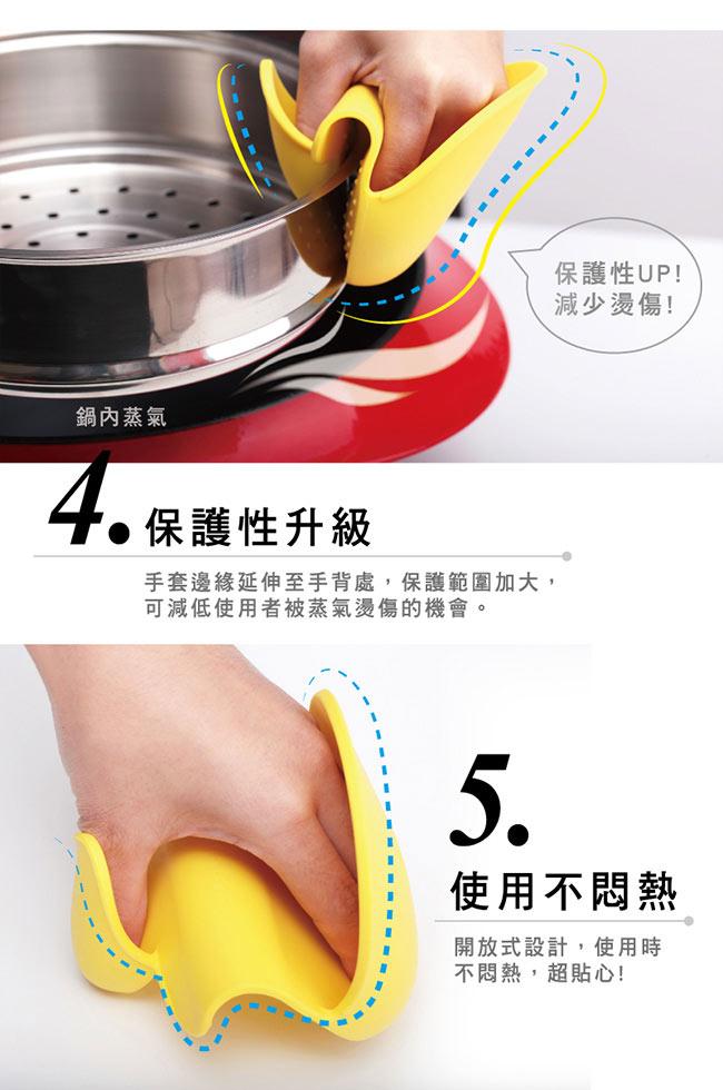 MULTEE摩堤|矽晶防燙小手套 G2_檸檬黃