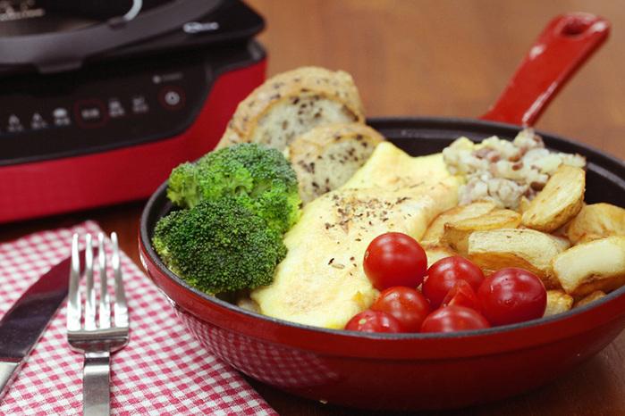 MULTEE摩堤 20cm單柄煎鍋含蓋(漸層紅)