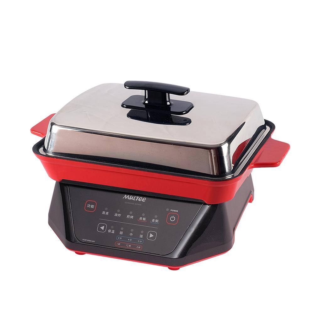 MULTEE摩堤|迷你IH鑄鐵燒烤組(肋)F8_800W(時尚紅)_紅A5.黑F8
