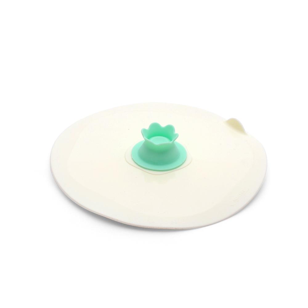 MULTEE摩堤 17cm花朵矽晶盤蓋_薄荷綠