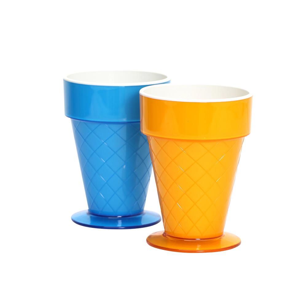 MULTEE摩堤 甜筒杯_鵝黃+藍