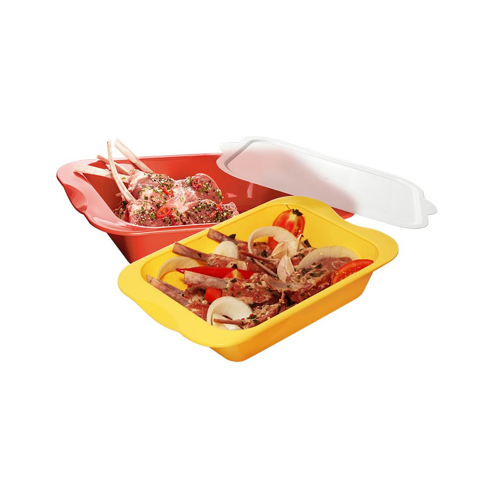 MULTEE摩堤|醃漬盒_蘋果綠&淺鵝黃