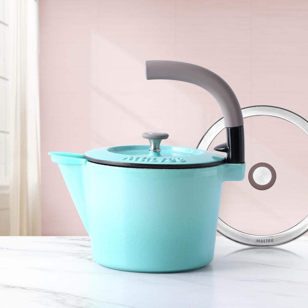 MULTEE摩堤|1.3L鑄鐵壺_晶鑽藍