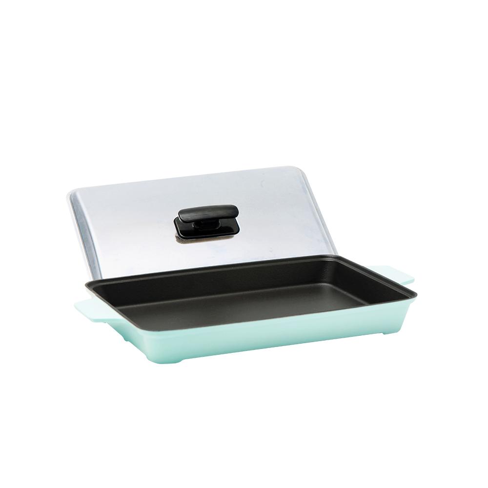 MULTEE摩堤|A4鑄鐵平烤盤_晶鑽系列(2色)贈醬料刷
