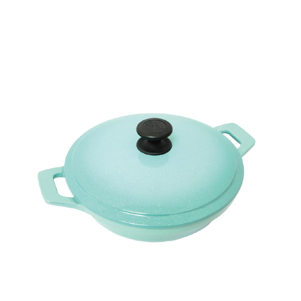 MULTEE摩堤 24cm鑄鐵媽媽鍋-晶鑽系列 2色可選