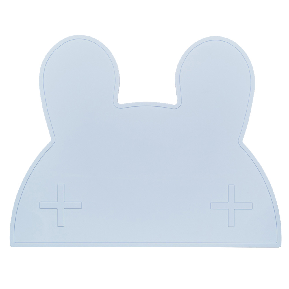 澳洲We Might Be Tiny|矽膠防滑餐墊兔寶寶-粉藍