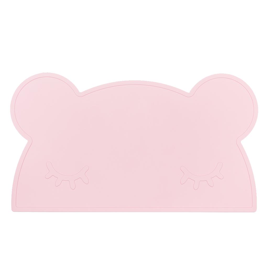 澳洲We Might Be Tiny|矽膠防滑餐墊熊寶寶-粉紅
