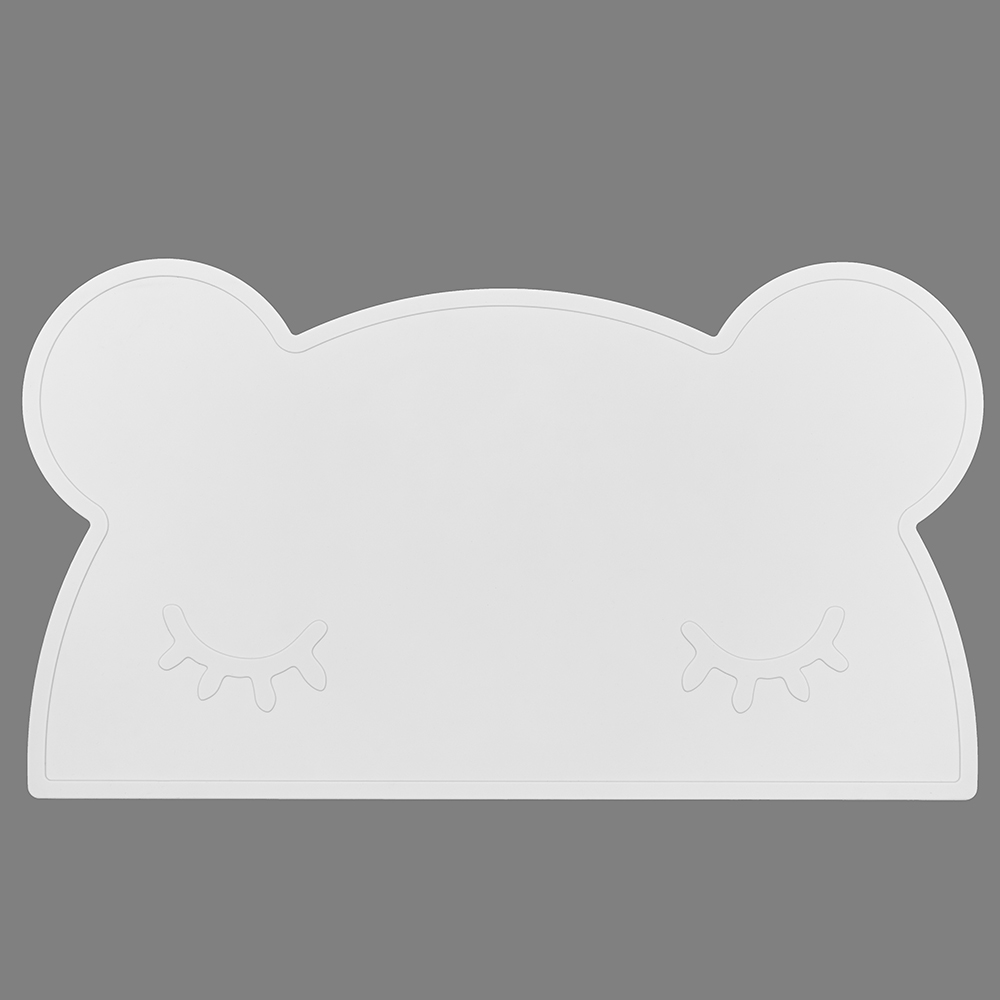 澳洲We Might Be Tiny|矽膠防滑餐墊熊寶寶-純白