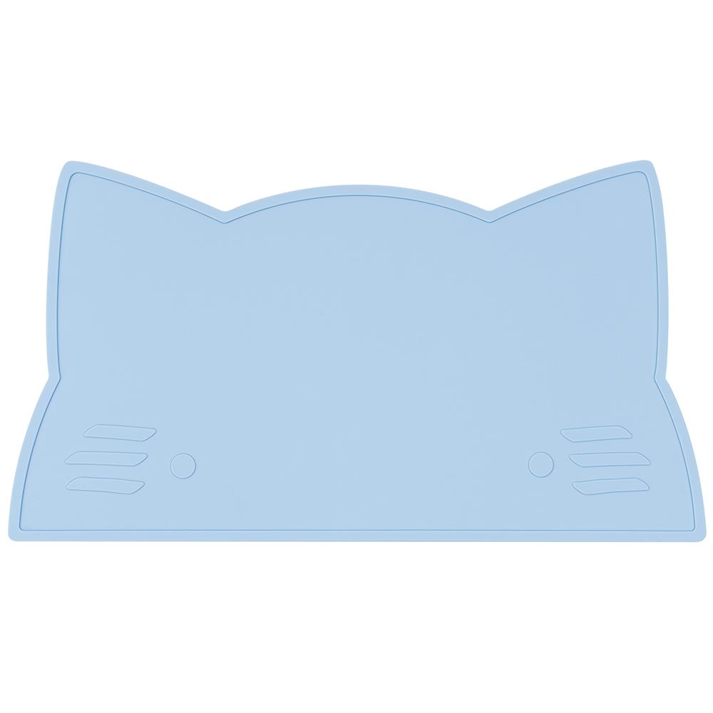 澳洲We Might Be Tiny|矽膠防滑餐墊小花貓-粉藍