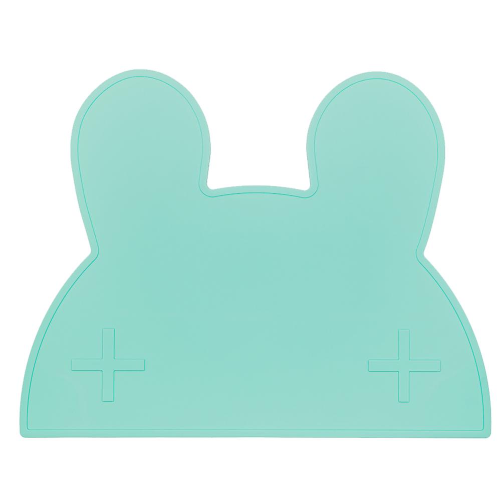 澳洲We Might Be Tiny|矽膠防滑餐墊兔寶寶-薄荷綠