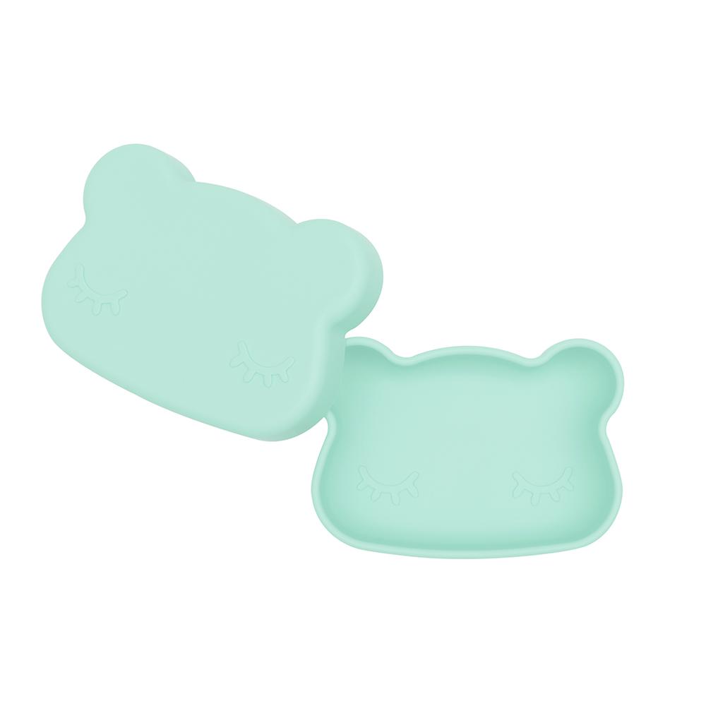 澳洲We Might Be Tiny 矽膠防滑便當盒熊寶寶-薄荷綠