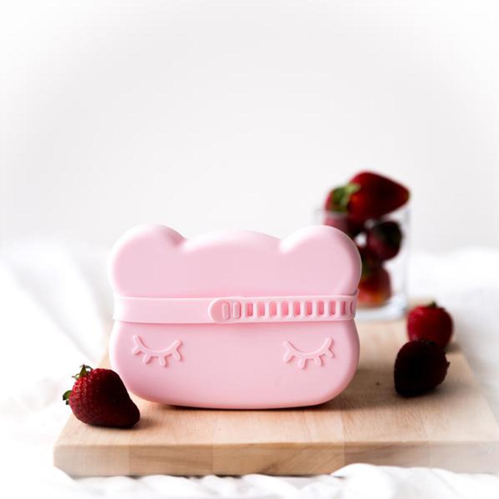 澳洲We Might Be Tiny|矽膠防滑便當盒熊寶寶-淺粉紅