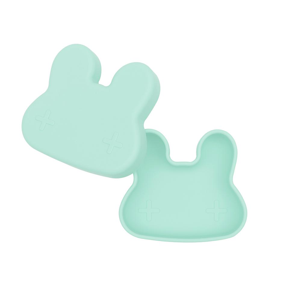 澳洲We Might Be Tiny|矽膠防滑便當盒兔寶寶-薄荷綠