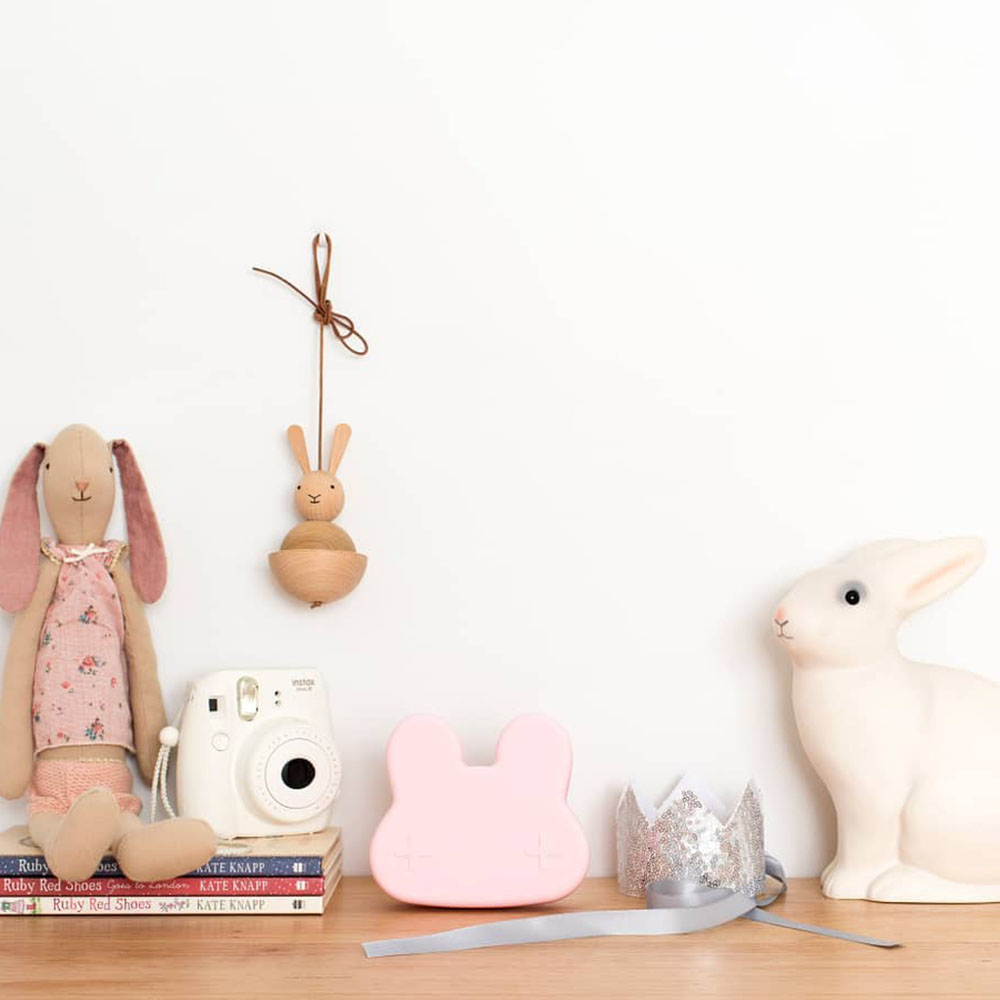澳洲We Might Be Tiny|矽膠防滑便當盒兔寶寶-淺粉紅