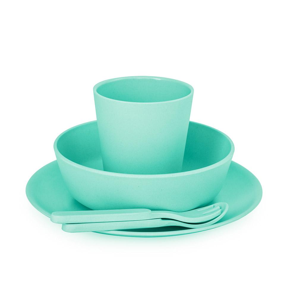 澳洲 bobo&boo | 竹纖維馬卡龍餐具組-薄荷綠