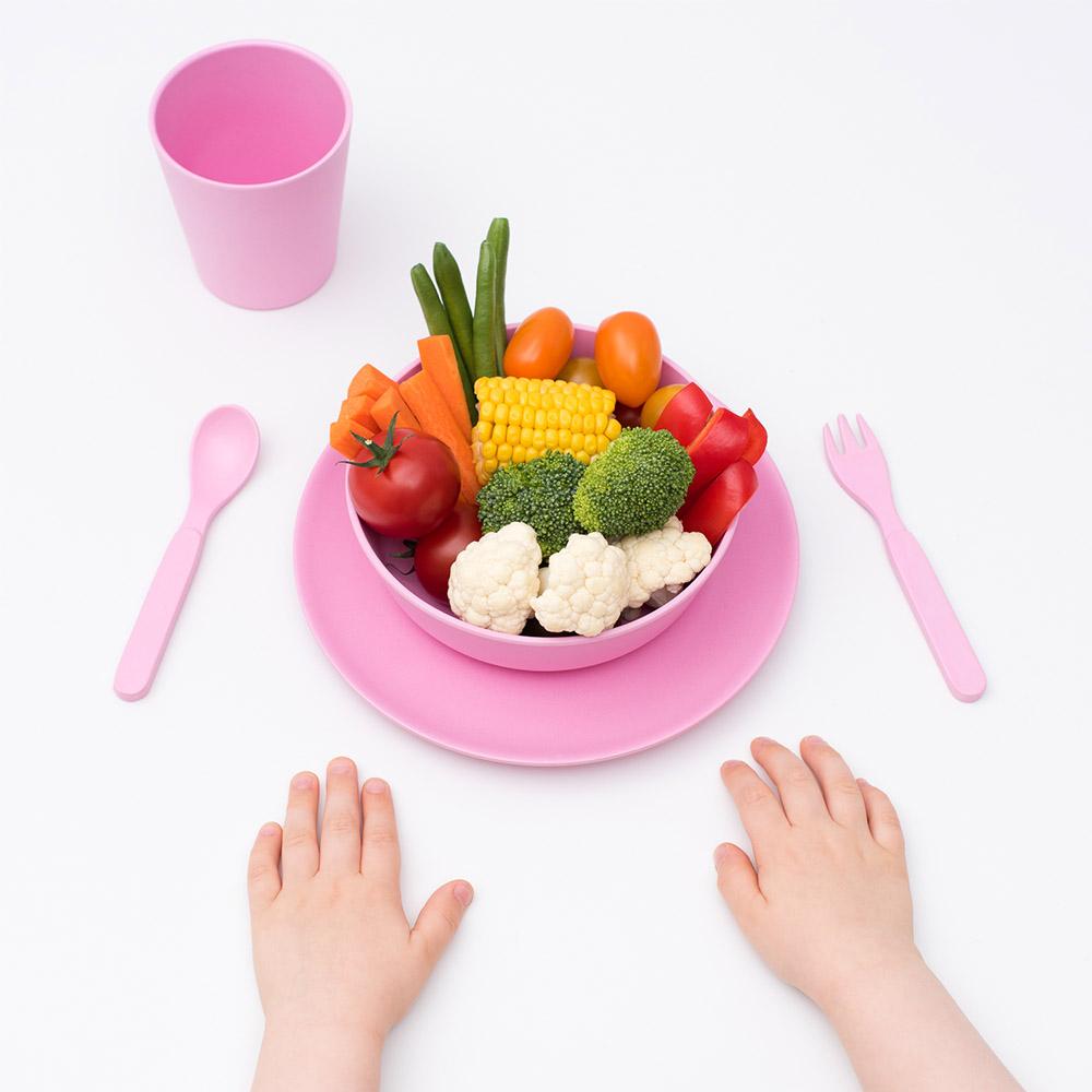 澳洲 bobo&boo | 竹纖維馬卡龍餐具組-蜜桃粉