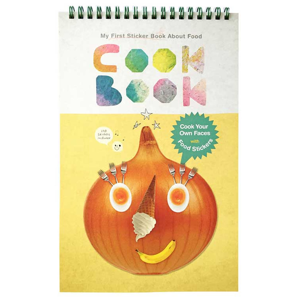 韓國 KOOROOM|食物畫畫貼紙書