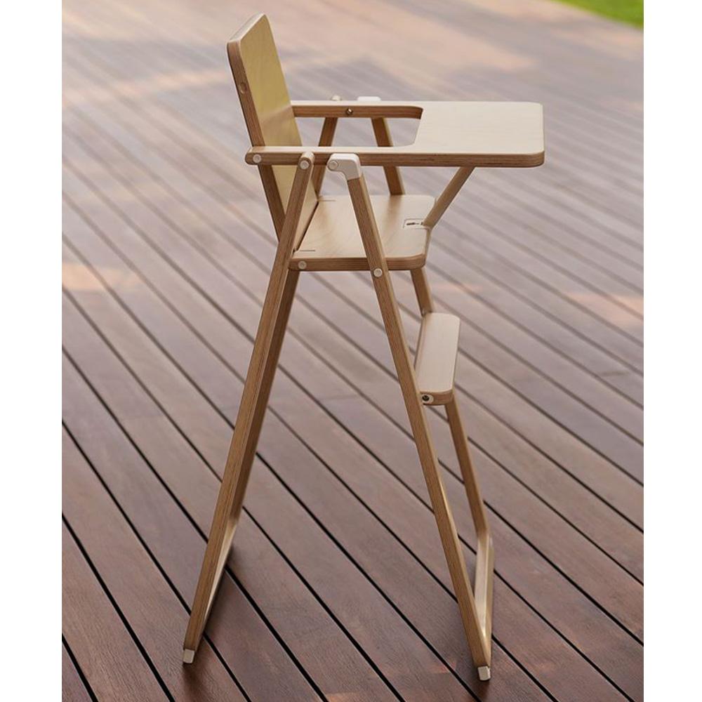 奧地利SUPAflat|兒童折疊高腳餐椅-原木色
