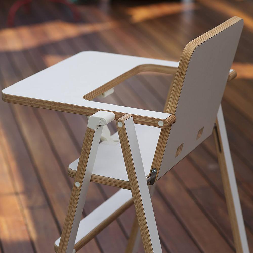 奧地利SUPAflat 兒童折疊高腳餐椅-白色