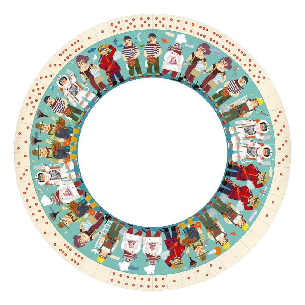 西班牙Londji|職業角色圓型骨牌遊戲